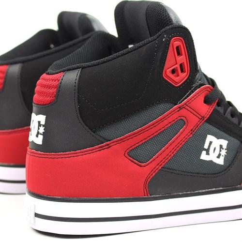 Обувь DC Spartan grey dark red - фото 5144