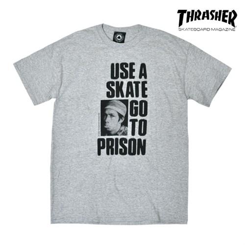 Футболка THRASHER Use a skate go to prsion grey - фото 5454