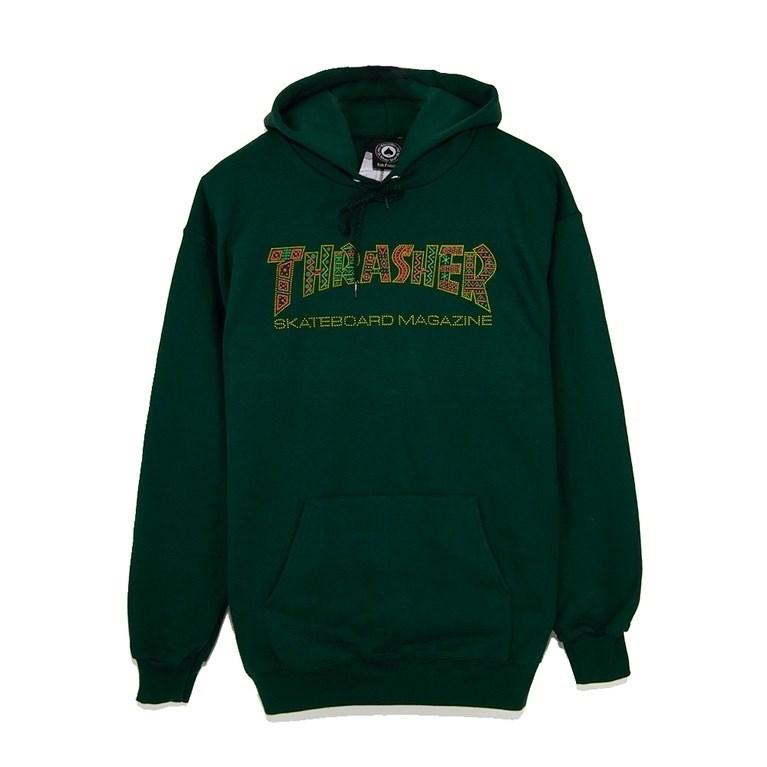 Thrasher толстовка DAVIS HOOD forest green - фото 5735