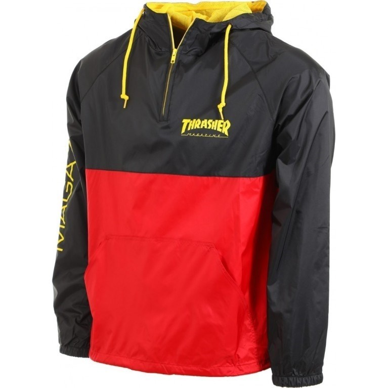 Thrasher анорак MAG LOGO ANORAK black/red - фото 6053