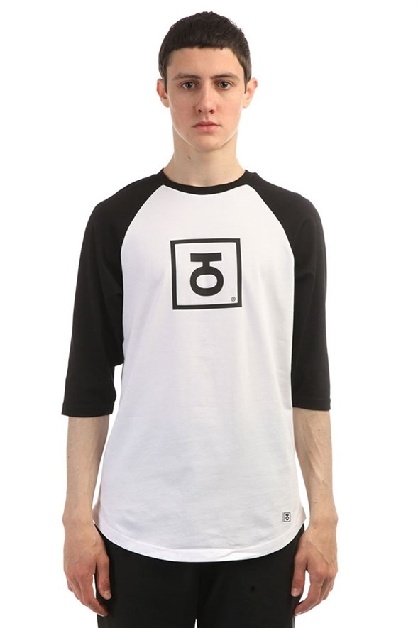 Юнион Футболка двухцветная с рукавом 3/4 Logo, цвет черно-белый, 100% хлопок - фото 6826