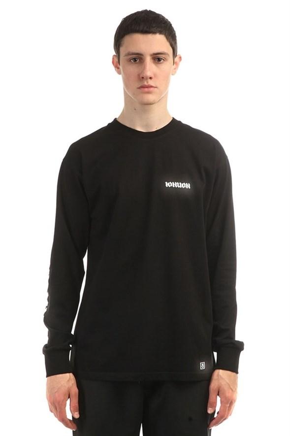 Юнион Лонгслив Gothic, цвет черный, 100% хлопок - фото 6828