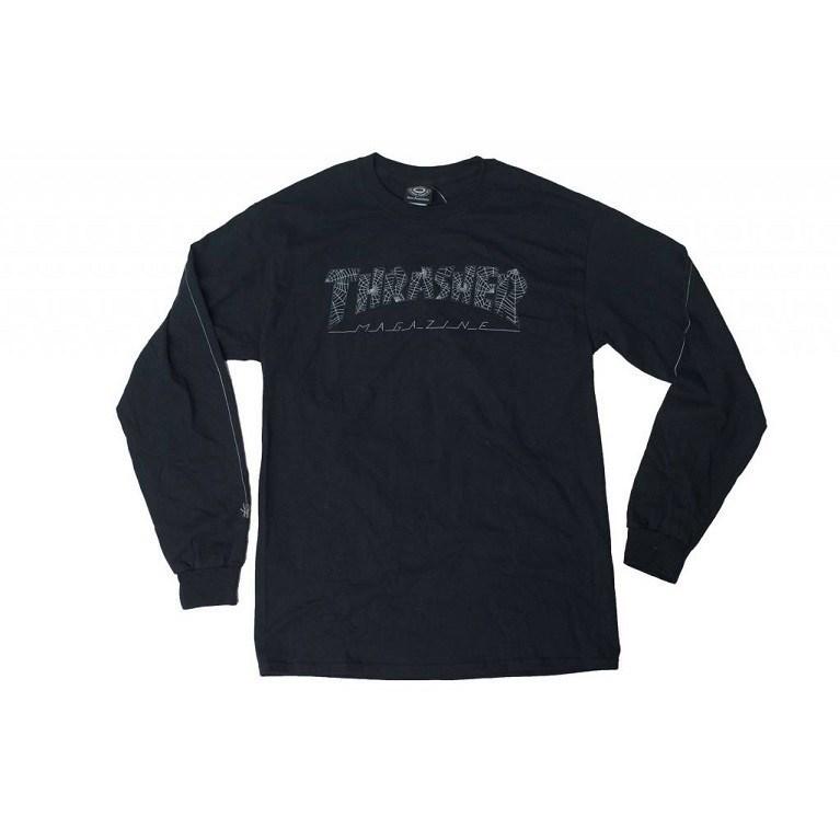 Thrasher Лонгслив WEB L/S BLACK - фото 6876