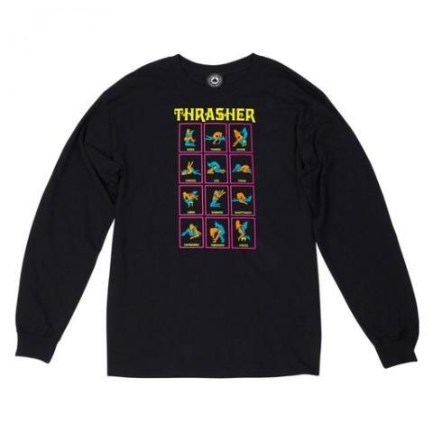 Thrasher лонгслив BLACK LIGHT L/S black - фото 6880