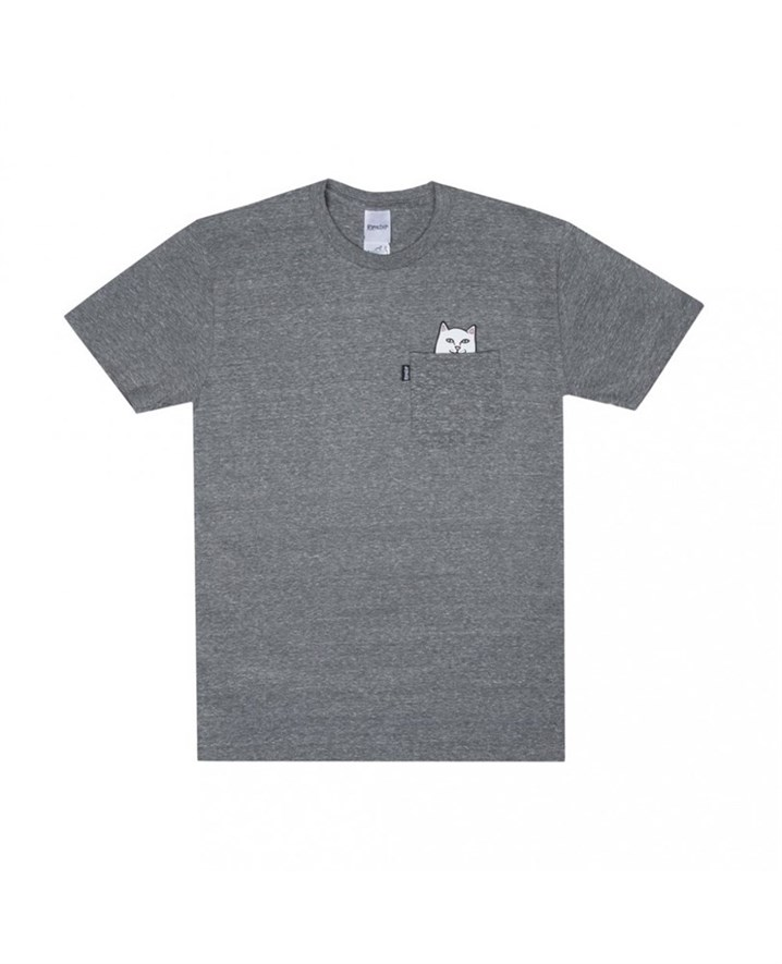 RIPNDIP Футболка Lord Nermal Pocket Tee Heather Grey - фото 7083