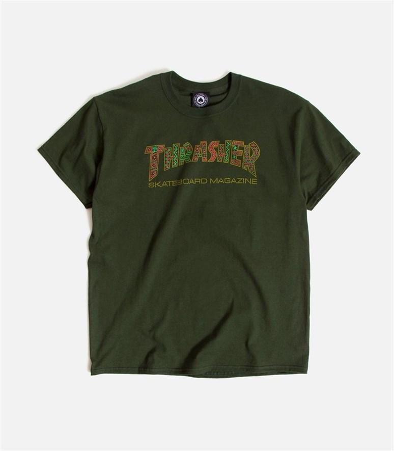 Thrasher футболка DAVIS S/S forest green - фото 7293