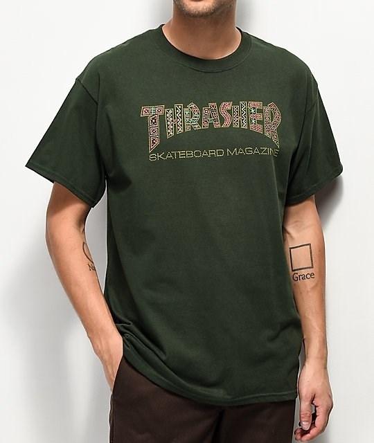 Thrasher футболка DAVIS S/S forest green - фото 7294