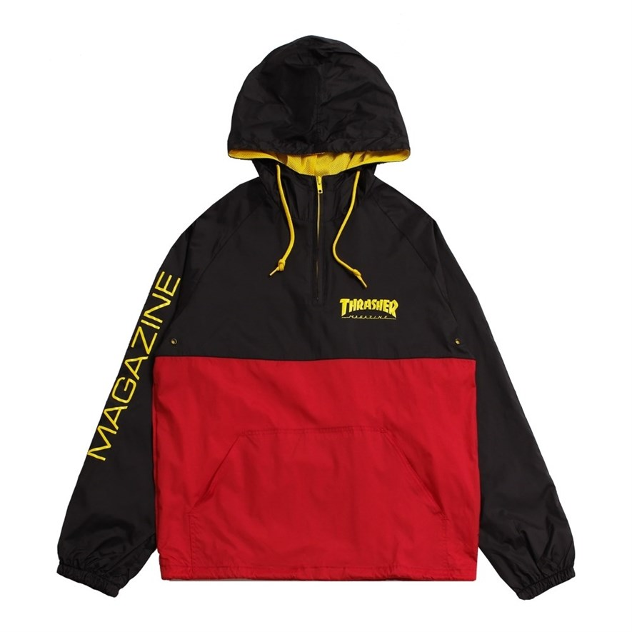 Thrasher анорак MAG LOGO ANORAK black/red - фото 8147
