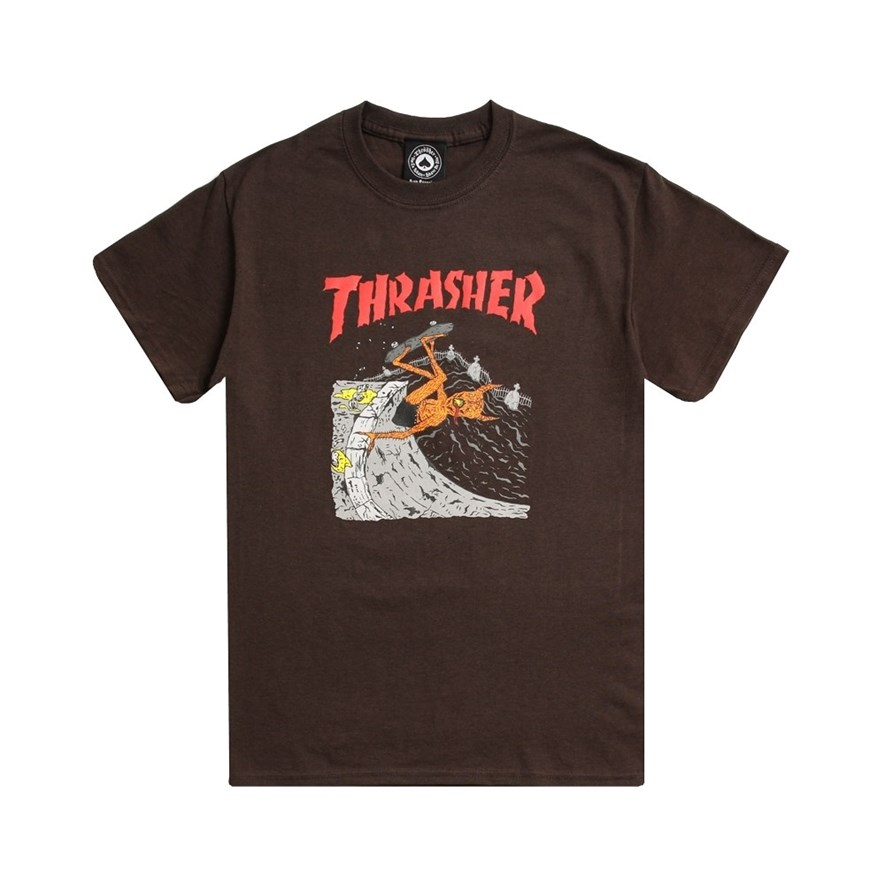 Thrasher футболка NECKFACE INVERT S/S brown - фото 8149