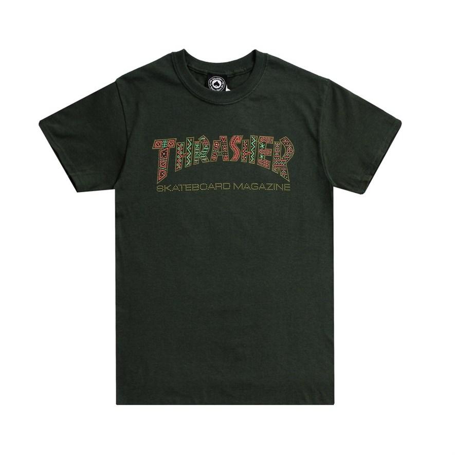 Thrasher футболка DAVIS S/S forest green - фото 8154