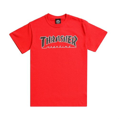 Thrasher футболка OUTLINED S/S red - фото 8156