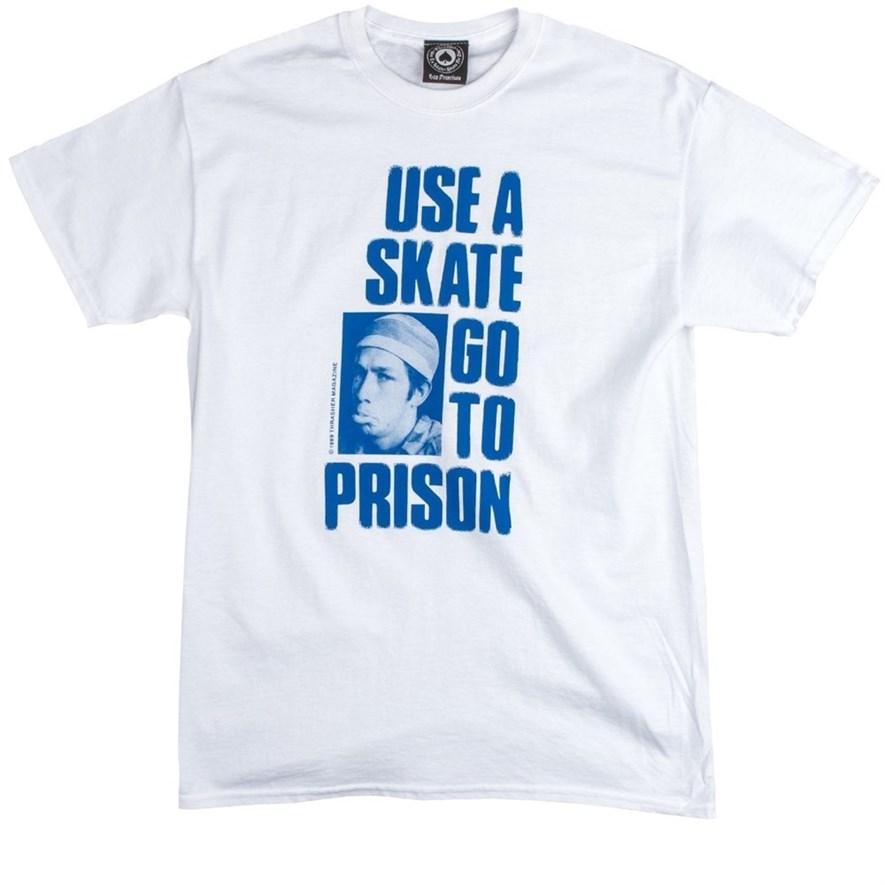Футболка Thrasher USE A SKATE GO TO PRISON white - фото 8202