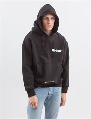 Толстовка с двойным капюшоном ZIQ & YONI x КИНО черная