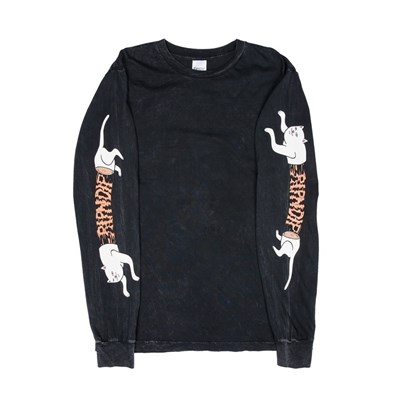 Лонгслив RIPNDIP Zipperface L/S Black Mineral Wash