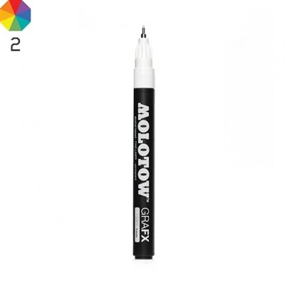Molotow Маркер GRAFX Fine-Liner 128pp 128002 белый 1 мм