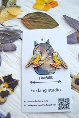 FoxFang сережки синички