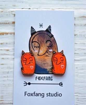 FoxFang сережки лисы спят