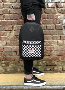 Oldy рюкзак карман checker black/white