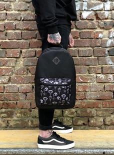 Oldy рюкзак карман Scull black