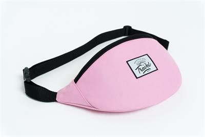 Travel поясная сумка logo cream pink
