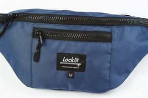 Сумка поясная Lockit M темно-синяя