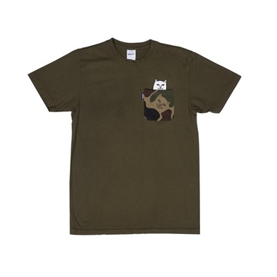 RIPNDIP Футболка Lord Nermal Camo Pocket Tee Army Camo