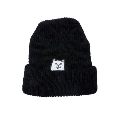 RIPNDIP Шапка Lord Nermal Rib Beanie Black