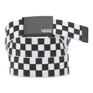 Vans Ремень VA3HZWHU0 LONG DEPSTER WEB BELT black-white check
