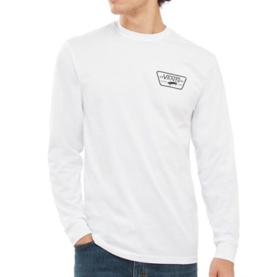 Vans Лонгслив VA2XCMYB2 FULL PATCH BACK LS white-black