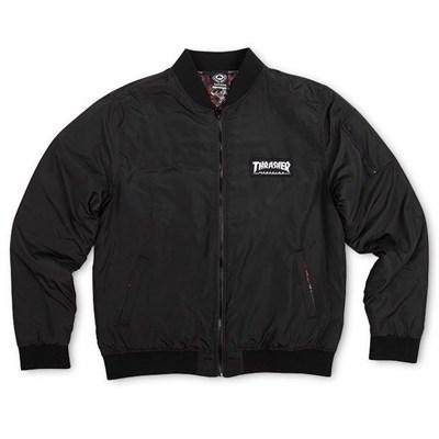 Thrasher куртка BOMBER JACKET BLACK