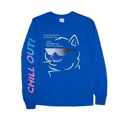 RIPNDIP Лонгслив Chill Out L/S Royal Blue