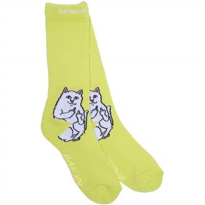 RIPNDIP Носки Lord Nermal Socks Safety Green