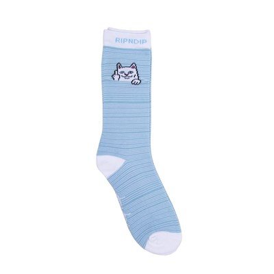 RIPNDIP Носки Peeking Nermal Socks Baby Blue / White
