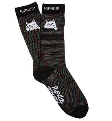 RIPNDIP Носки Peeking Nermal Socks Black Space Dye