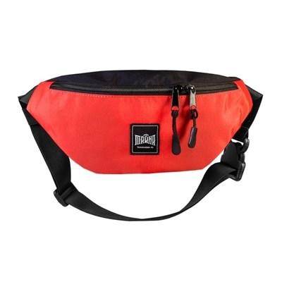 """Поясная сумка """"Тайна"""" Colorblock красно-черный таслон"""