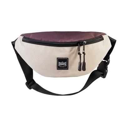 """Поясная сумка """"Тайна"""" Colorblock Бежево-коричневый таслон"""