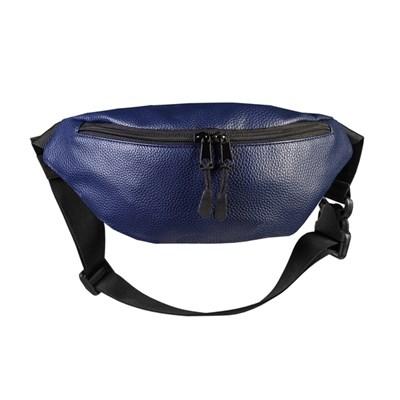 """Поясная сумка """"Тайна"""" Экокожа синий"""