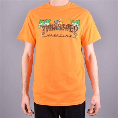 Thrasher футболка TIKI S/S SAFETY ORANGE