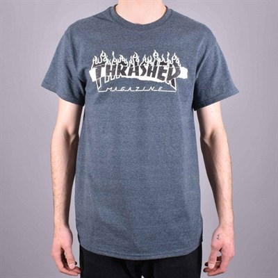 Thrasher футболка RIPPED S/S DARK HEATHER