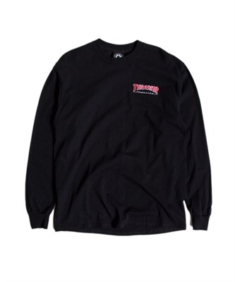 Thrasher лонгслив EMBROIDERED OUTLINED L/S BLACK