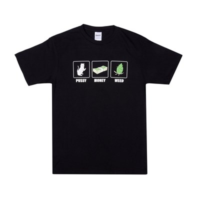Футболка Ripndip Pu$$y, Money, Weed Tee Black