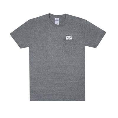 Футболка Ripndip Lord Nermal Pocket Tee Heather Grey