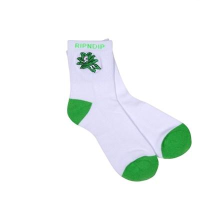 Носки Ripndip Tucked In Socks White / Green