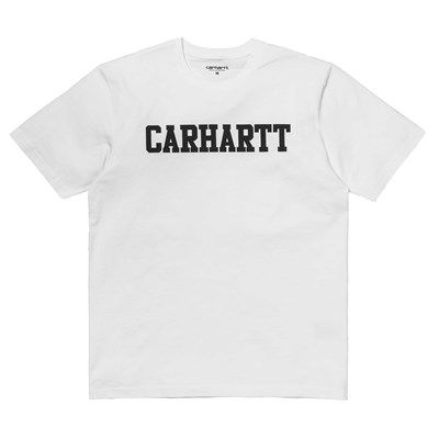 Carhartt Футболка S/S College T-Shirt WHITE / BLACK