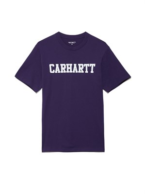 Carhartt Футболка S/S College T-Shirt ROYAL VIOLET / WHITE