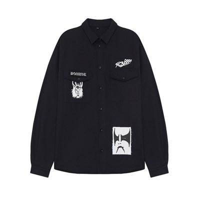Волчок Рубашка PATCHED черный