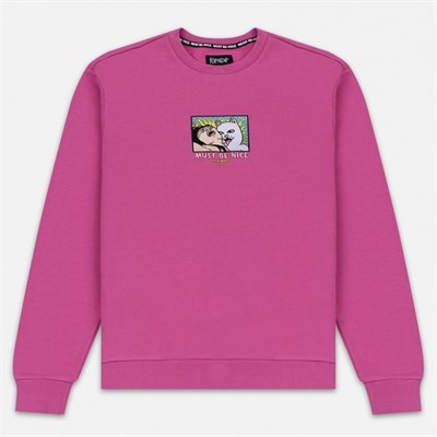 Толстовка Ripndip Lady Friend Crewneck Fuchsia
