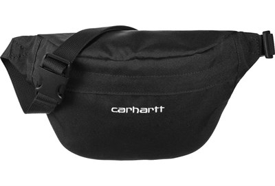 Carhartt WIP поясная сумка Payton Hip Bag BLACK / WHITE