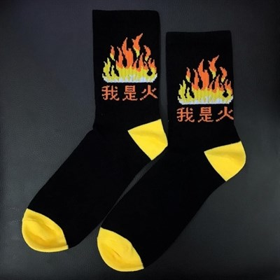 Носки Lockit Огонь черные (р41-45)