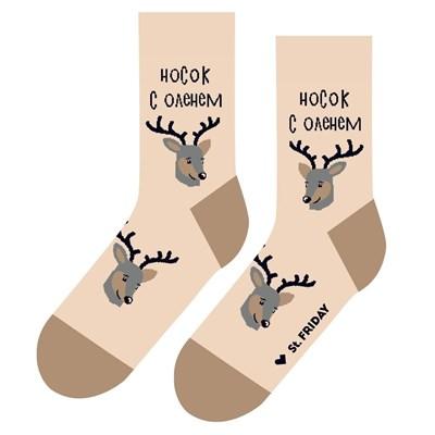Носки St. Friday socks Носок с оленем один дома